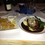 filet and fried oysters