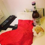 additional goodie bag n beer n xmas tart from ovolo