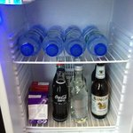 d free drinks in d bar fridge