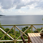 Private veranda with stunning view of Caribbean