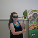 Pictures with a tame bird in the activity centre