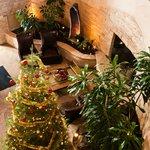 Holiday decor in lobby