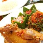 Bebek Goreng (Crispy Duck with Duo Balinese Sambal)