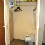 Wardrobe with combo-lock safe