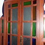 pretty glass door.