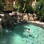 Small pool waterfall