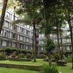 Garden compound of Hyatt Regency at Yogjakarta
