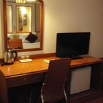 LCD TV With Table And Fridge