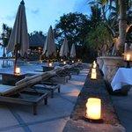 Poolside at sunset. Amazing!!