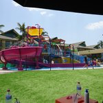 the view of the waterpark from the adults only area