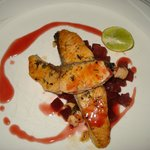 Salmon with beetroot - Yum!