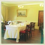 Traditional, elegant and very welcoming dining room
