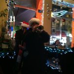 A very welcomed X-mas group came strolling thru playing X-mas carols that evening!