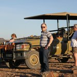Sundowners after the evening game drive