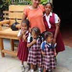 Rebecca and children