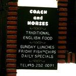 Coach & Horses - signage