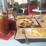 Breakfast and bloody Mary goodness!