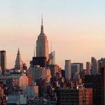 Dawn breaking over Manhattan