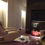 Living room of premium room on 11th floor