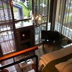 Chambre 'Romaine' vue depuis l'étage