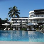 hotel/pool area