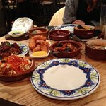 We ordered a lot of tapas, which was really good!