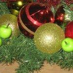 immer nett dekoriert, hier Weihnachten