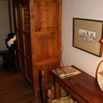 The armoire w/ TV inside