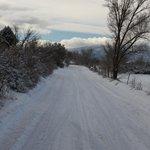 A wintery road near Taos