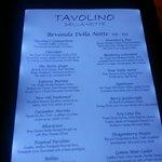 Tavolino Della Notte Drink Menu