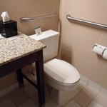 Toilet too close to sink table making it uncomfortable to use