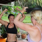 surfer girl recharge session includes a fitness session to show you how to keep up the strength