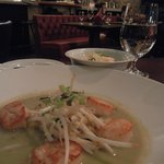 Qualicum Beach Scallops w/ thai green curry, Oregon pink shrimp, coconut rice