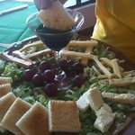We enjoyed a delicious cheese plate featuring local Monteverde cheeses. Delicious!