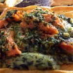 Fresh King Salmon vol au vent Dinner menus change daily to accommodate the fresh seasonal foods.
