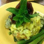 Breakfast option. Bacon scrambled egg bake