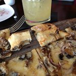 Great pizza and margarita in da Campo Osteria restaurant