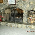 Central River Rock Fireplace