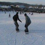 My boys snowboarding