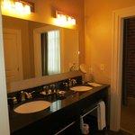 Double-sink vanity in Room 401