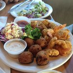 Shrimp & Oysters, Fried with Slaw