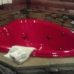 Heart Shaped Jacuzzi in cabin #5