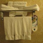 Artistic towel display!
