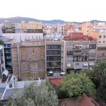 View from La Pedrera of the hotel