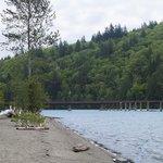 Kilby Provincial Park beach and campground