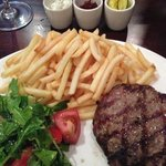 lamb burger GF style
