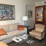 Living room in City View Suite