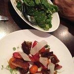 sides: rocket salad/ tomato salad