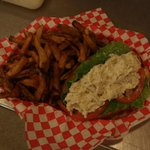 Chicken Salad on New England Roll/Fresh Cut Fries