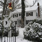 Front of Inn with Snow